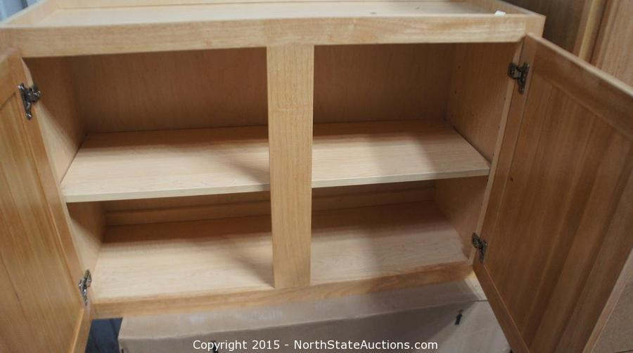 auction a lucky march auction item 4 pre assembled bath cabinets